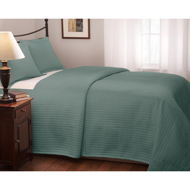Roxbury Park Teal Quilted Queen Size Coverlet Free