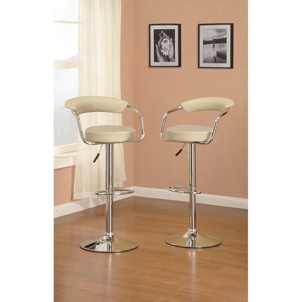 Counter stools set of 2 grey leather safavieh com - Sammy Khaki Barstool Free Shipping Today Overstock Com