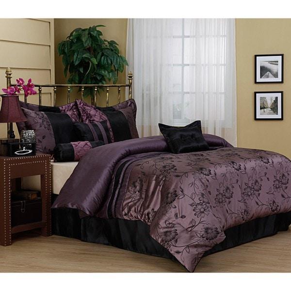 Harmonee Lavender 7-piece Comforter Set