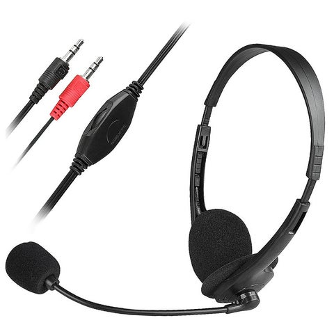 INSTEN Black VOIP/ SKYPE Hands-free Headset with Microphone