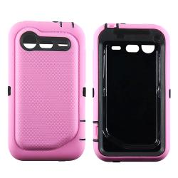 Black/ Pink Hybrid Case for HTC Droid Incredible 2 - Thumbnail 1
