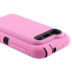 Black/ Pink Hybrid Case for HTC Droid Incredible 2 - Thumbnail 2