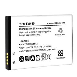 Extended Battery with Cover/ Screen Protector/ Charger for HTC EVO 4G