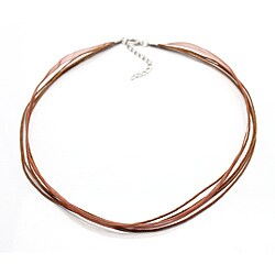 Handmade Bleek2Sheek Brown Organza and Leather Necklace Cord (Set of 2) (United States)