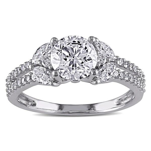 Miadora Signature Collection 14k White Gold 1 1/2ct TDW IGL-certified Vintage Diamond Ring (G-H, I1-I2)