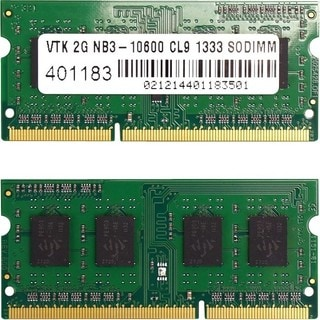Visiontek 2 x 2GB PC3-10600 DDR3 1333MHz 240-pin DIMM Memory Module