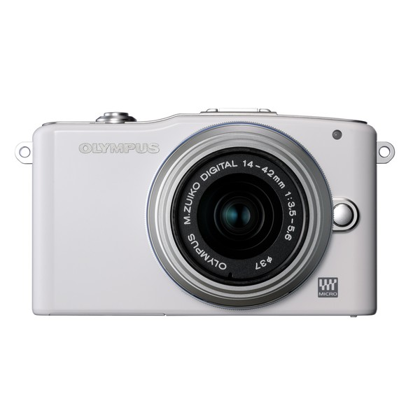 Olympus E-PM1 12MP White Digital Camera with 14-42mm II Lens