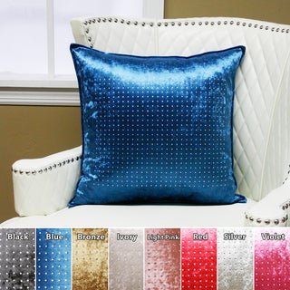 Aurora Home Checker Rhinestone Stud Velvet Pillow 19 x 19 (Set of 2)