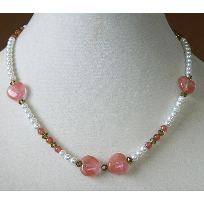 'Stephanie' Gemstone Heart Necklace