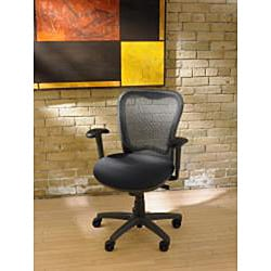 Nightingale LXO Mid-back Black Mystic Ergonomic Task Chair - Thumbnail 1