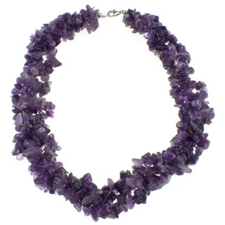 Pearlz Ocean Amethyst Chip Necklace