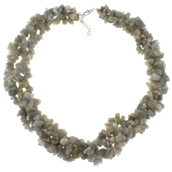 Pearlz Ocean Labradorite Chip Necklace