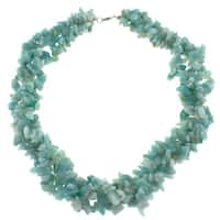 Pearlz Ocean Amazonite Chip Necklace Jewelry for Womens