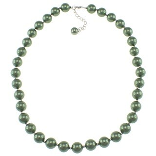 Pearlz Ocean Green Shell Pearl Necklace Jewelry for Womens