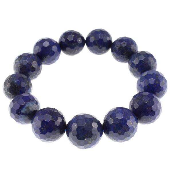 Pearlz Ocean Lapis Lazuli Bead Stretch Bracelet