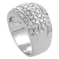 Journee Collection Silvertone Round-cut Cubic Zirconia Bridal & Engagement Ring