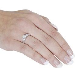 Journee Collection Silvertone Brass Round-Cut Cubic Zirconia Ring