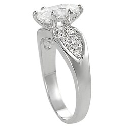 Journee Collection  Silvertone Marquise CZ Bridal & Engagement Ring