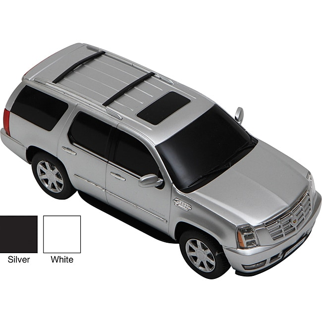 premium white cadillac escalade remote control car in 1 24 scale free shipping on orders over. Black Bedroom Furniture Sets. Home Design Ideas
