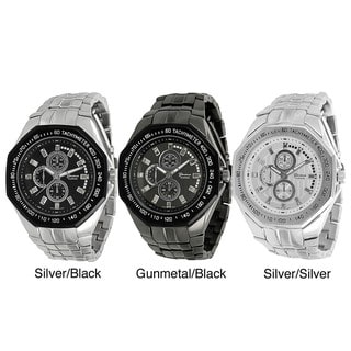 Geneva Platinum Men's Chronograph-style Link Watch