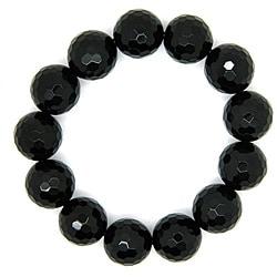 Pearlz Ocean Black Onyx Bead Stretch Bracelet