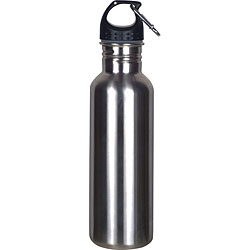 Worthy Wide-mouth 18/8 Silver Stainless Steel Sports Bottle