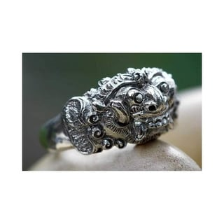 Handmade Sterling Silver Men's 'Goodness' Ring (Indonesia)