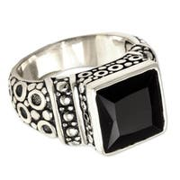 Handmade Midnight Shadow Men's Artisan Designer Fashion Black Onyx Sterling Silver Ring (Indonesia)