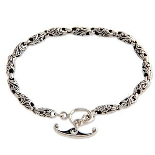 Sterling Silver 'To Flourish' Chain Bracelet (Indonesia)