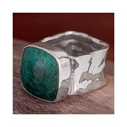 Sterling Silver 'Taxco Memory' Chrysocolla Ring (Mexico)