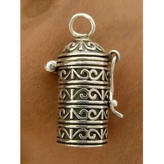 Handmade Sterling Silver 'Fervent Prayer' Locket Pendant (India)