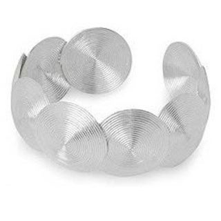 Handmade Sterling Silver 'Flowing Fusion' Cuff Bracelet (Thailand)