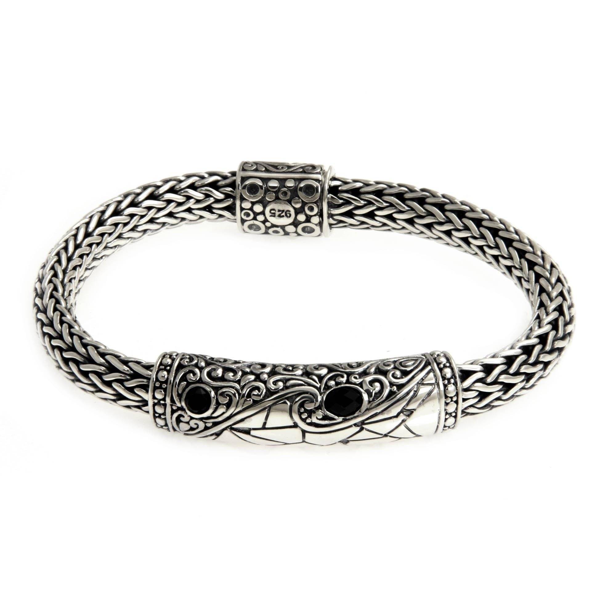 Fine Jewellery Fine Bracelets Rapture Vintage Sterling Silver Square Link Bracelet Solid .925 Silver 7 Inches Moderate Price