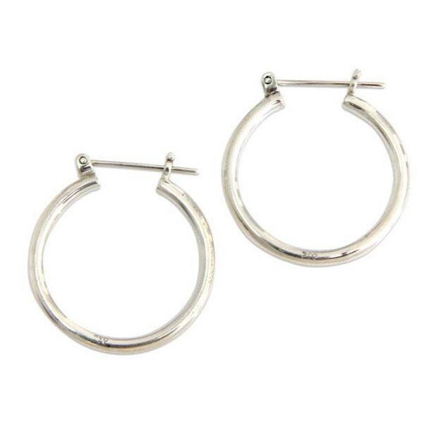 Handmade Sterling Silver X27 Moonlit Dess Hoop Earrings Indonesia