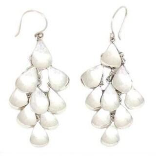 Handmade Sterling Silver 'Shower of Petals' Waterfall Earrings (Indonesia)