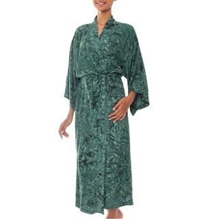 Handmade Rayon 'Green Destiny' Robe (Indonesia)