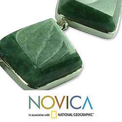 Handmade Sterling Silver 'Love Immortal' Jade Necklace (Guatemala) - Thumbnail 2