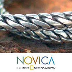 Handmade Set of 2 Sterling Silver 'Unison' Cuff Bracelets (Thailand) - Thumbnail 2