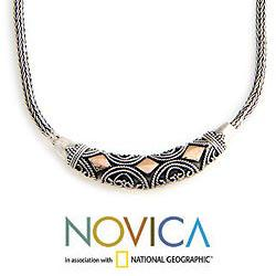 Handmade Sterling Silver 'Majapahit Princess' Necklace (Indonesia)