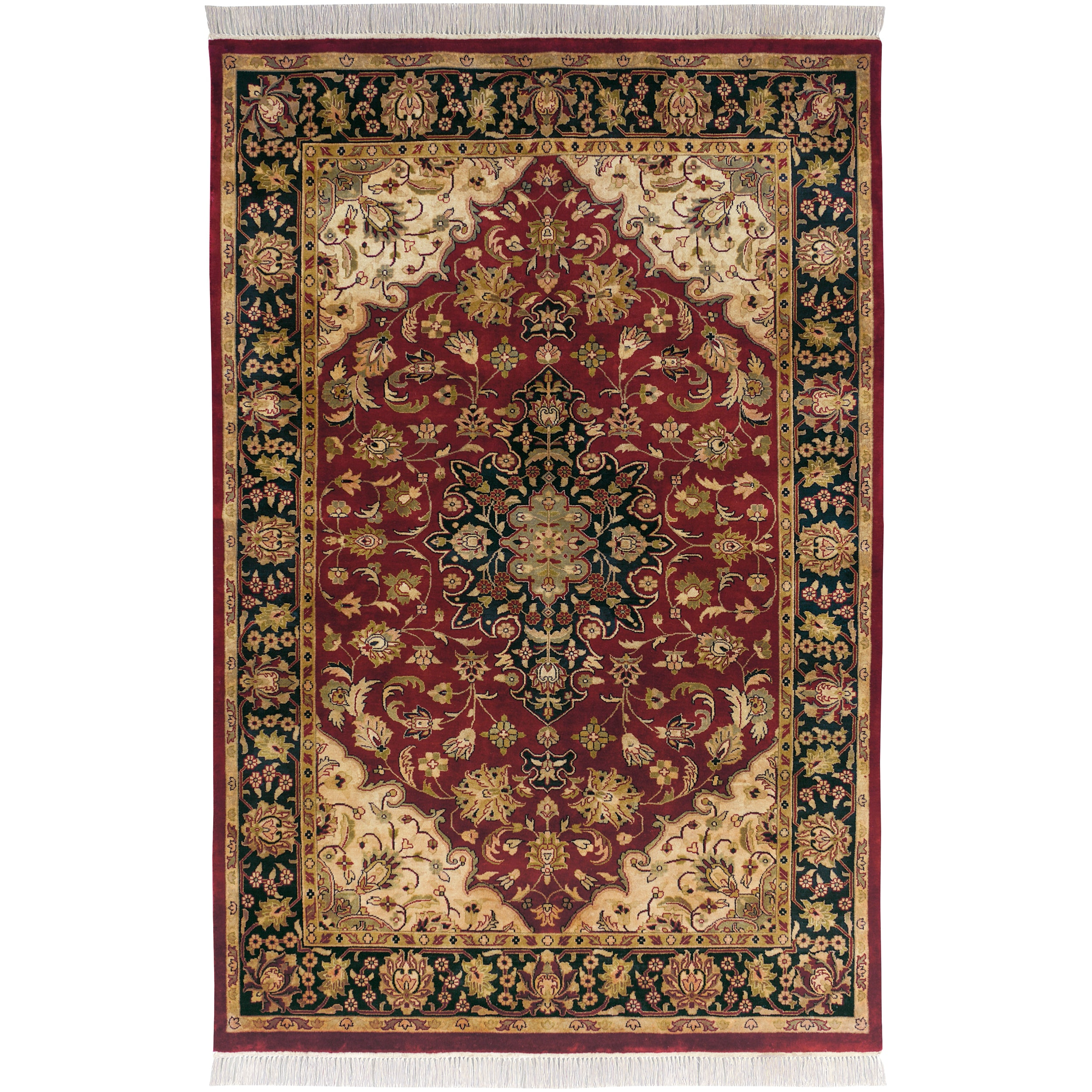 Hand Knotted Jacinto Semi Worsted New Zealand Wool Area Rug 9 X27