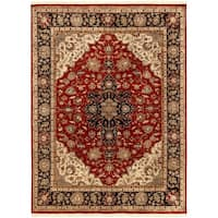 Hand Knotted Jacinto Semi-Worsted New Zealand Wool Area Rug - 8'6 x 11'6