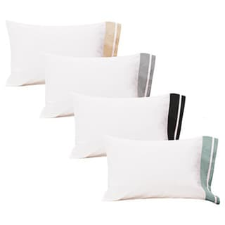 Roxbury Park Inlay Bleach White King-size Pillowcases (Set of 2)