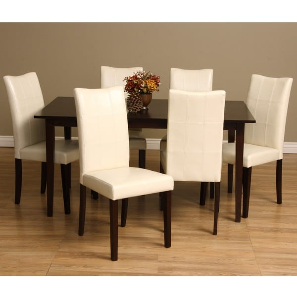 Warehouse of tiffany eveleen 7 piece dining furniture set for Dining room furniture 0 finance