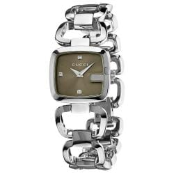 Gucci Women's YA125503 '125 Series' Diamond Stainless Steel Watch