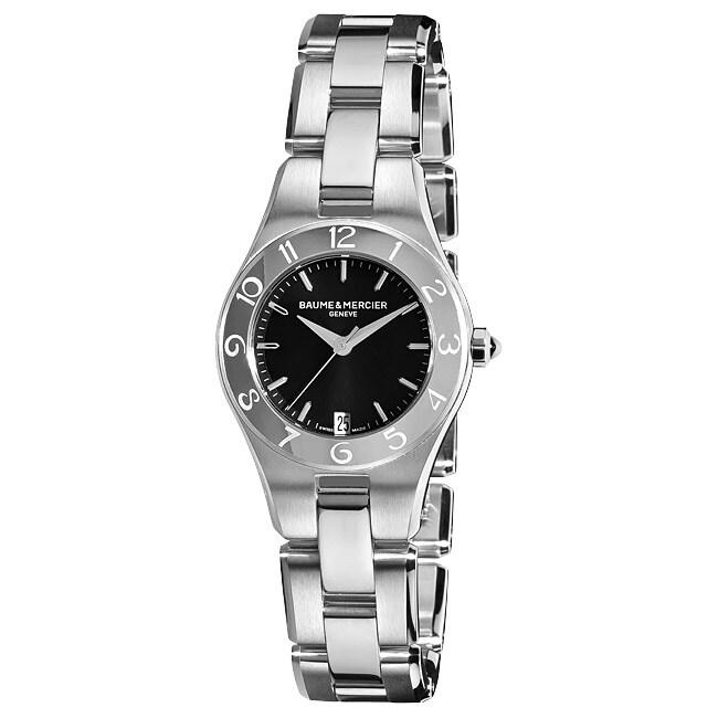 BAUME & MERCIER Women's 'Linea' Stainless Steel Watch, Bl...