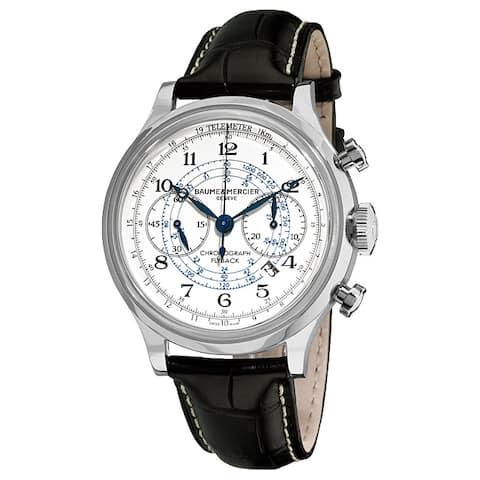 Baume & Mercier Men's MOA10006 'Capeland' Chronograph Automatic Black Leather Watch