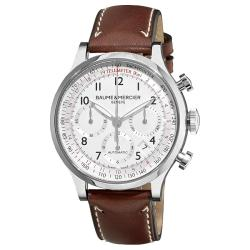 Baume & Mercier Men's M0A10000 'Capeland' Automatic Chronograph Watch with Brown Leather Strap