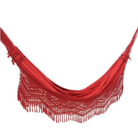 Cotton 'Red Rio Sensation' Hammock (Brazil)