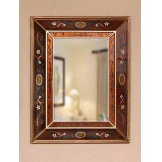 Handmade Glass 'Jewels' Mirror (Peru)