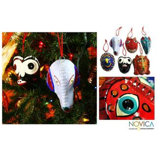 Handmade Set of 6 Ceramic 'Ritual' Ornaments (Guatemala)